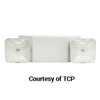 TCP EMERGENCY LIGHT WHITE HOUSING SQUARE HD