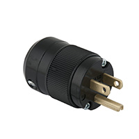 MARINCO POWER PRODUCTS 15A 125V 2P 3W (5-15P) STANDARD PLUG - BLACK BODY IN A BLACK HOUSING