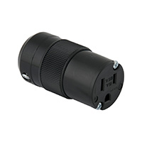 MARINCO POWER PRODUCTS 15A 125V 2P 3W (5-15R) STANDARD CONNECTOR - BLACK BODY IN A BLACK HOUSING