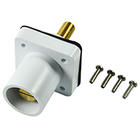 "MARINCO POWER PRODUCTS CL 16 SERIES PANEL MOUNT INLET (400A / 600V) 1.125"" THREADED STUD MALE - WHITE (B)"