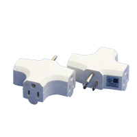 MILSPEC 90 DEGREE TRIPLE TAP ADAPTER WHITE