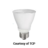 TCP DIMMABLE 10W SMOOTH PAR20 725L 5000K 25DEG 60 W EQUAL