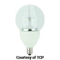 TCP LED 5W DIMMABLE G16 GLOBE 350L 2700K 40W EQUAL