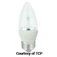 TCP LED 4W B11 DIM 2700K E26 FROST