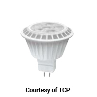 TCP LED 7W MR16 30K GU5.3 FL
