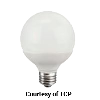 TCP DIMMABLE 5W SMOOTH G25 325L 3000K 40W EQUAL