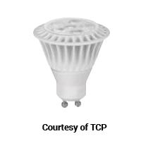 TCP LED 7W MR16 24K GU10 FL 400L 2400K 40DEG 50W EQUAL