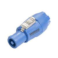 MARINCO POWER PRODUCTS 20A 500V POWER CONNECTOR INPUT BLUE