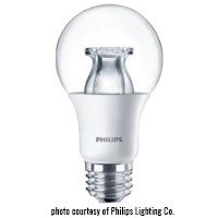 PHILIPS 10A19/LED/827-22/CL/DIM-120V 800L 2700K 60W EQUAL