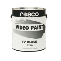 ROSCO VIDEO PAINT TV BLACK #5740 1GAL