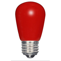 SATCO 1.4W S14/RED/LED/120V/CD