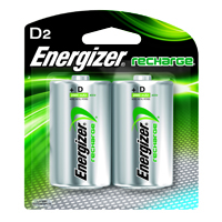 ENERGIZER NH50-2500 (HR20) RECHAREABLE D 2 PACK