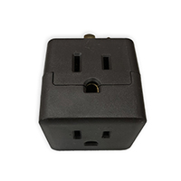 COOPER THREE OUTLET CUBE TAP BROWN