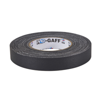 "PROTAPES PRO GAFFER 1"" BLACK 55 YARDS"
