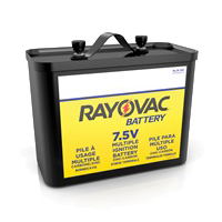 RAYOVAC 7.5 VOLT SCREW TERMINALS EMERGENCY