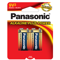 PANASONIC ALKALINE PLUS POWER 9V 2-PACK