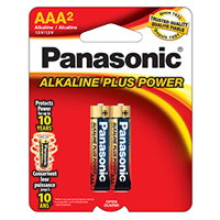 PANASONIC ALKALINE PLUS POWER AAA 2 PACK