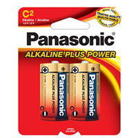 "PANASONIC ALKALINE PLUS POWER ""C"" SIZE 2-PACK"