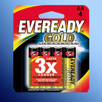 ENERGIZER EVEREADY GOLD AA CELL A91BP-4