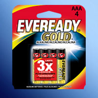 ENERGIZER EVEREADY GOLD AAA CELL A92BP-4