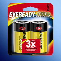 ENERGIZER EVEREADY GOLD D CELL A95BP-2