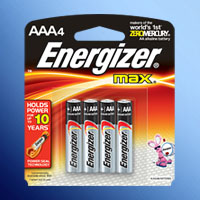 ENERGIZER E92 AAA ALKALINE 4 PACK