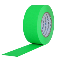 "PROTAPES CONSOLE TAPE 1/2"" GREEN FLATBACK"