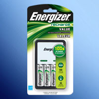 ENERGIZER RECHARGE CHARGER FOR AA/AAA