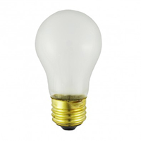 NORMAN LAMPS A15 FAN LIGHT BULB, E12, 130V, 60W, FROSTED, TUFF-COATED