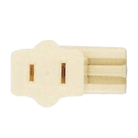 SATCO FEMALE SLIDE PLUG POLARIZED 18/2 IVORY