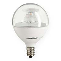 SUNLITE 80409-SU | G16.5/LED/5W/D/E12/CL/ES/27K/CD