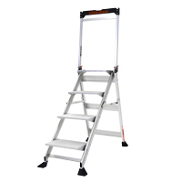 LITTLE GIANT JUMBO STEP ALUMINUM 4'